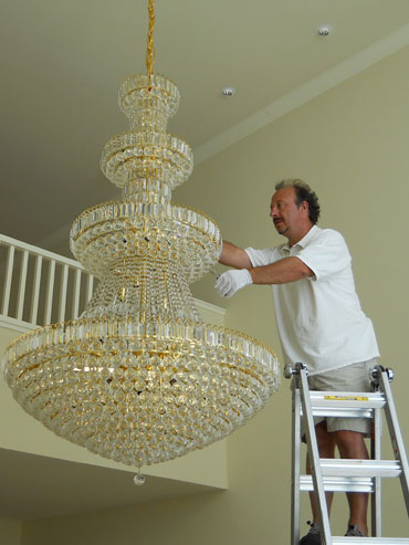 Chandelier Cleaning San Francisco Bay, Cleaning A Chandelier
